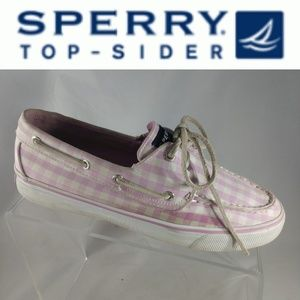 Sperry Top-Sider Boat Shoes Sz 7.5 M Pink White